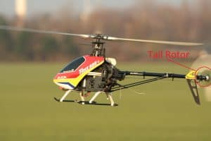 Tail rotor marked - make RC helicopter faster