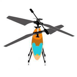 fly rc helicopter : nose in