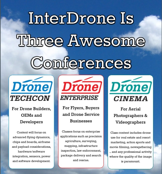 InterDrone : 3 conferences